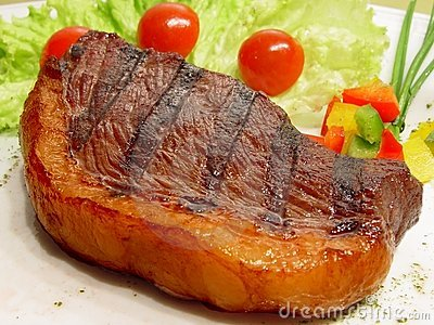 Picanha, Tapa de Cuadril, Steak with salad