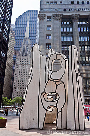 Picasso at Daley Plaza Chicago Editorial Stock Image