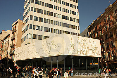 Picasso s frize, Architects s College. Barcelona Editorial Stock Image