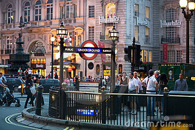 Piccadilly Circus Editorial Photo