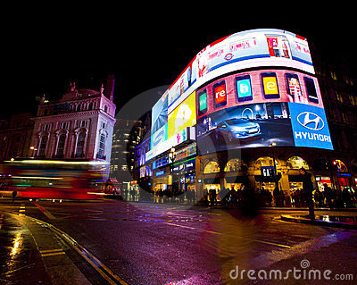 Piccadilly Circus Editorial Stock Image