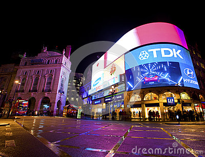 Piccadilly Circus Editorial Image