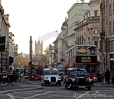 Piccadilly Circus London Editorial Image