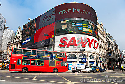 Piccadilly Circus, london. Editorial Image