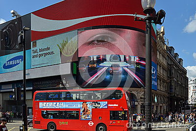 Piccadilly Circus in London Editorial Photography