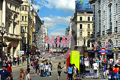 Piccadilly Circus in London Editorial Stock Image