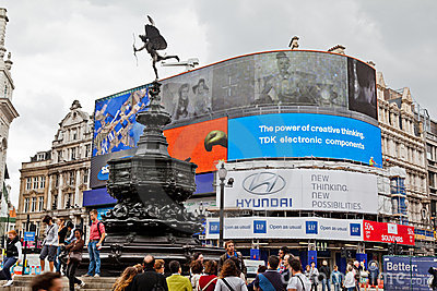 Piccadilly Circus London England Editorial Photography