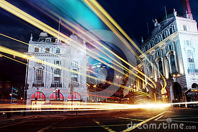 Piccadilly Circus, London Night Time Editorial Image