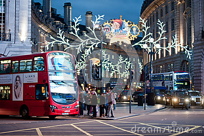 Piccadilly Circus London Editorial Stock Photo