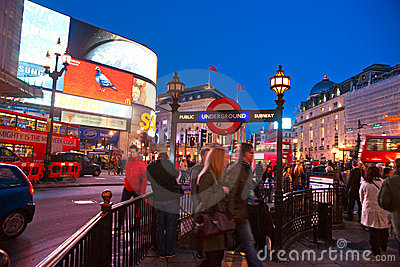 Piccadilly Circus, London, UK. Editorial Image
