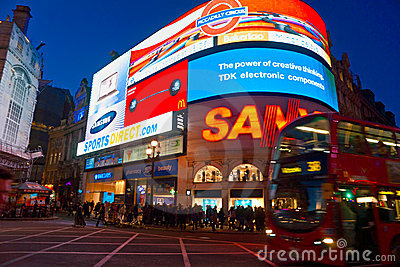 Piccadilly Circus, london. UK. Editorial Photography