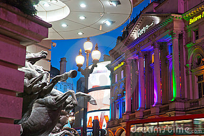 Piccadilly Circus ,  London, UK. Editorial Stock Image