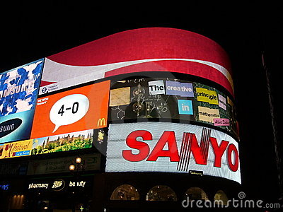 Piccadilly Circus by night Editorial Photo