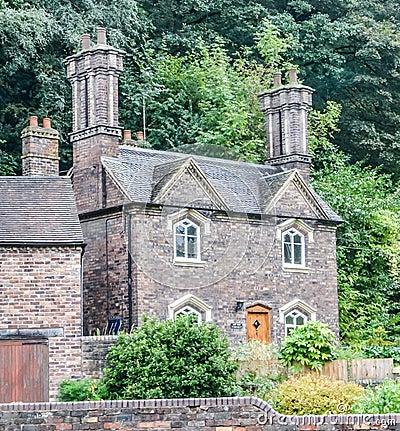 piccolo cottage di pietra inglese immagini stock libere da