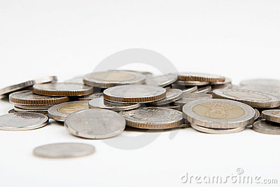Pièces de monnaie d isolement