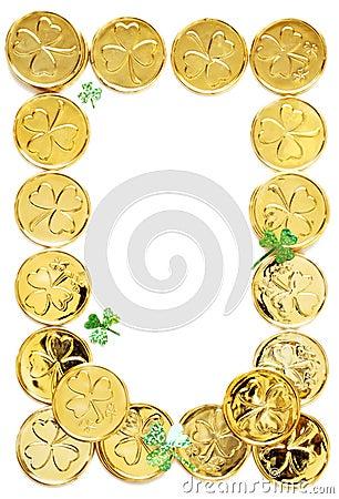 Pièces de monnaie de jour de patricks de rue