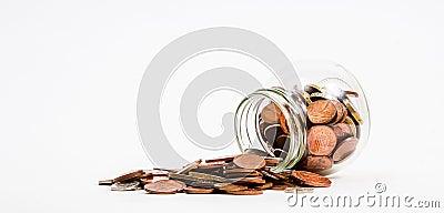 Pièces de monnaie renversées