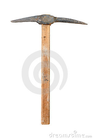 Free Pick Axe Royalty Free Stock Photography - 3705017