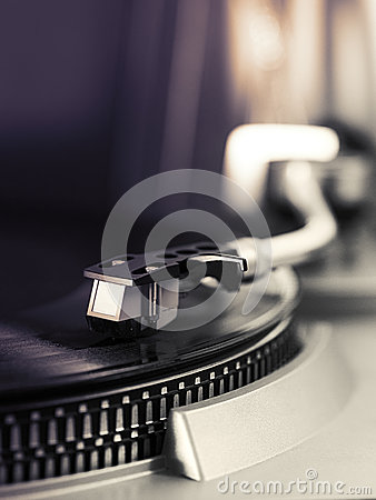 Free Pick-up Arm Of A Record Player Royalty Free Stock Image - 41466906