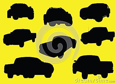 Pick-up trucks silhouettes
