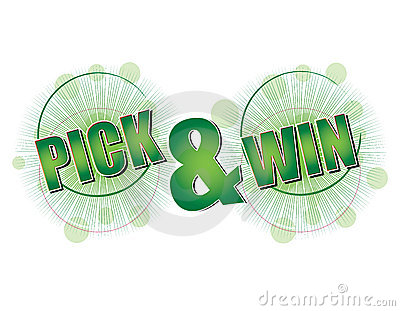 Pick and Win green