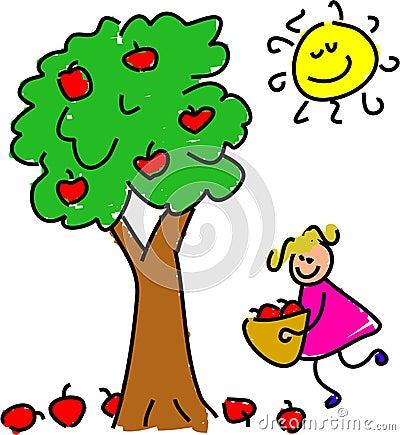 Picking Apples Stock Image - Image: 611821