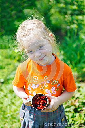 Picking of  berry