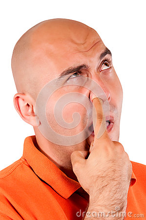 Picking the nose