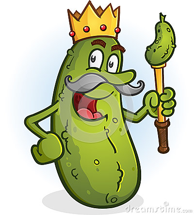 Free Pickle King Cartoon Character Stock Images - 55341734