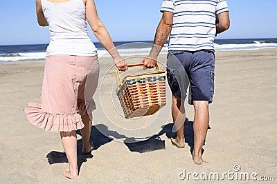 Picknick bij Strand