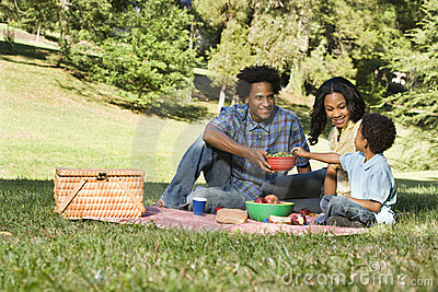 Picknick im Park.