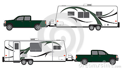 Pickup and camper trailer