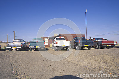 Pickup trucks on Navajo Editorial Photo