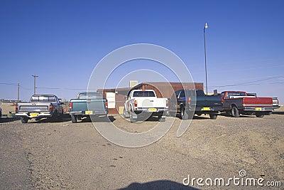 Pickup trucks on Navajo Editorial Photo