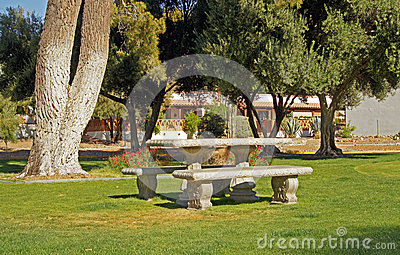 Picnic area in the park