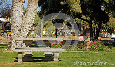 Picnic area in the park