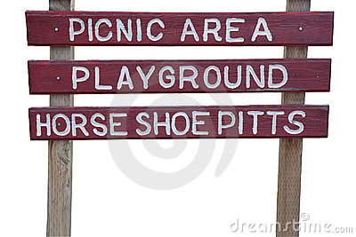 Picnic area and playground sign