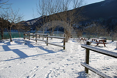 Picnic Area in Snow