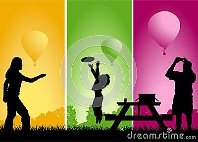 Picnic balloon race