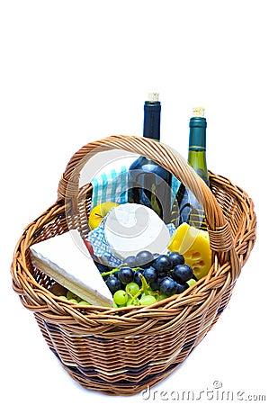 Free Picnic Basket Royalty Free Stock Photos - 18710988