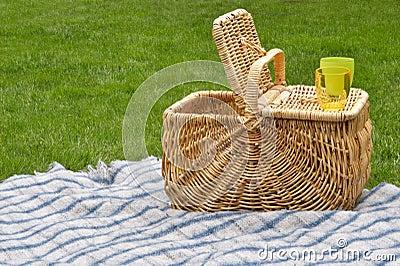 Picnic basket open