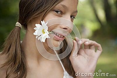 Picnic Biting Flower Stem