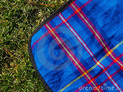 Picnic blanket on the lawn
