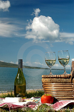 Free Picnic By The Sea Royalty Free Stock Photo - 727065