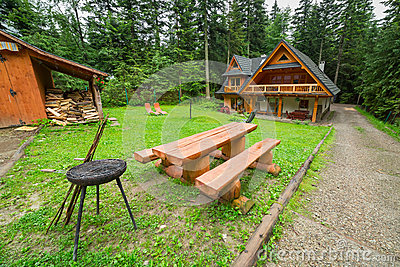 Picnic in the forest of Tatra mountains
