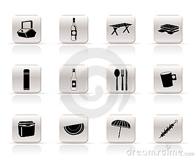 Picnic and holiday icons