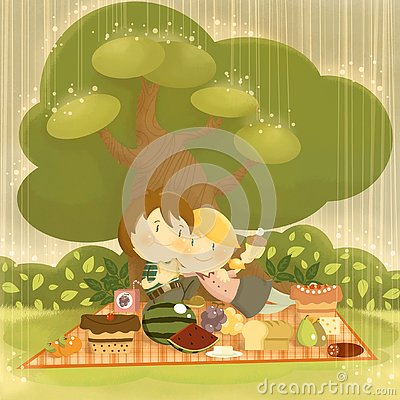 Free Picnic In The Rain Stock Photo - 126695480