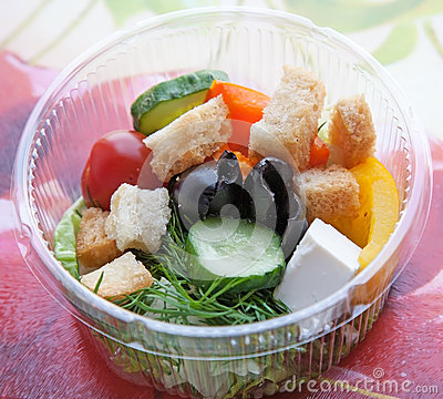 Picnic with mix freshness salad