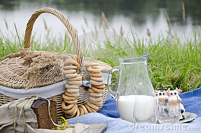 Picnic by the river