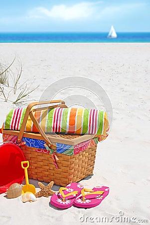 Picnic on sand dune